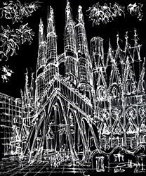 Sagrada Familia Passion Facade by Ingo -  sized 36x43 inches. Available from Whitewall Galleries